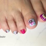 foot  アシメ Flower
