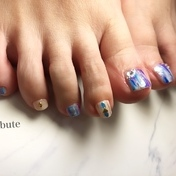 foot  purple縦マーブル