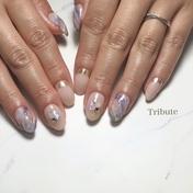 purple beigeマーブル